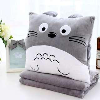 Totoro 3 in 1 cushion + blanket + hand warmer