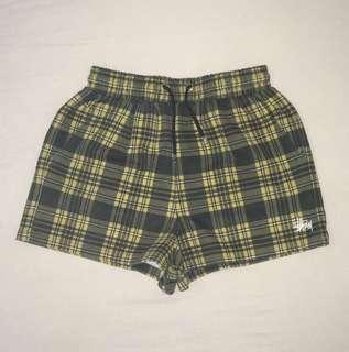 Stüssy Georgy Shorts in Yellow Check