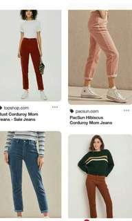 Caduroy boyfriends jeans