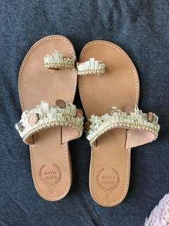 sandles brought in mykonos