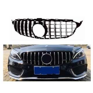 Compatible GTR Grill for Mercedes Benz C Class W205, 2014 - 2019 (FL)