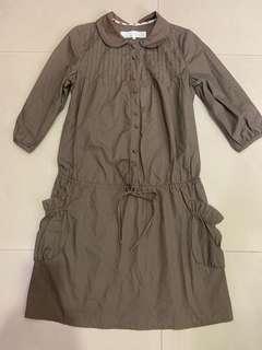 🚚 a la aha 卡其綁帶洋裝