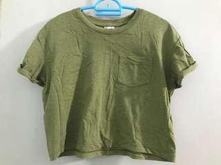 H&M Army Green Crop Top #STB50 #MakeSpaceForLove #MMAR18
