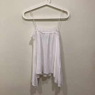 🚚 Zara TRF White Crochet Cami Top