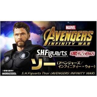 全新日版啡盒未開 S.H.Figuarts SHF 復仇者聯盟 3 Avengers 無限之戰 Infinity War 雷神 Thor