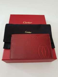 Cartier Happy Birthday Burgundy Calfskin Cardholder