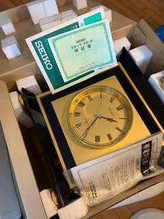 全新日本SEIKO精工80年代古董高頻靜音石英座鐘