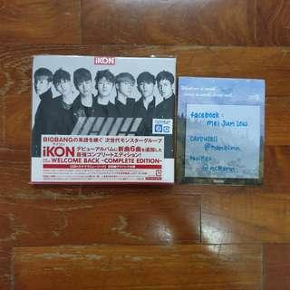 iKON Welcome Back Japanese Complete Edition Album
