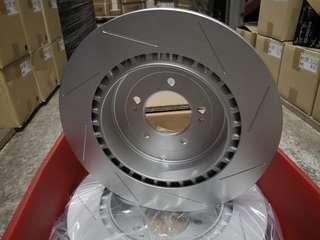 Evo X Rear slotted rotor