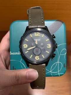 Jam tangan original Fossil Leather 42mm