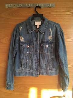 Distressed Denim Jacket Forever21