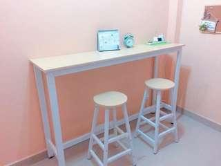 Bar Table with Two Bar Stool
