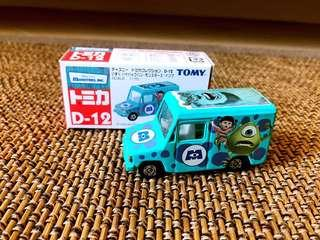Tomy Tomica D-12 藍字 怪獸公司 車仔 已絕版