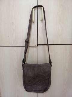 Brown Lether Sling Bag