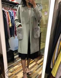 日本🇯🇵入口長絨外套 2個色 毛毛可拆
