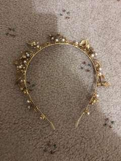Floral headband crown