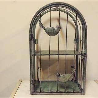 美式鄉村風 鐵製鳥籠壁掛壁飾