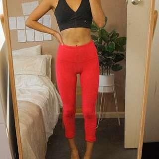 Hot Pink High Waisted Yoga Tights