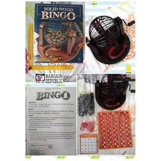 Wooden Bingo Game Set Solid Wood