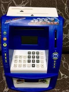 Thomas 智能存款機 有提款卡 密碼功能 可存硬幣紙幣 鬧鐘功能 多功能 atm saver machine