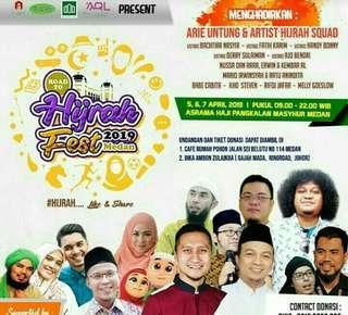 tiket hijrah fest kota medan festival event even 2019