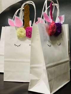 Unicorn goodies bags