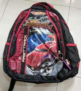 Original hot wheels school bag children back pack