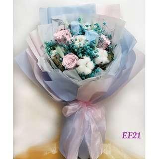 花束永生花flower bouquet鮮花乾花再造花訂婚求婚用品wedding EF21