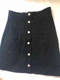H&M velvet black skirt