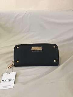 Mango Classic Saffiano Zip Around Wallet