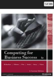 🔥Computing for Business Success 4th Edition