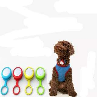 🚚 🆒🆕 Smart Dog Button Tag Flashing Bluetooth Anti-lost Safety Tracker Key Finder Pet Ornaments