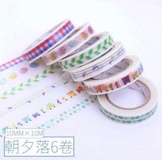 🚚 💫[PO] aesthetic harajuku washi tape for bujo / studygrams