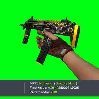 MP7 NEMESIS FN FACTORY NEW CSGO SKIN GLOVE GLOVES KEY KEYS KNIFE