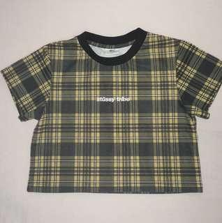 Stüssy Georgy crop t-shirt in Yellow Check