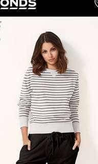 Bonds striped jumper top size 8 Aus