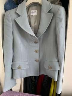 Armani collezioni light blue suit blazer IT38 女性用 西裝外套