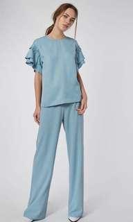 Collate the Label - Ruffle sleeve blouse