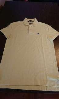 全新 A&F 淺黃色 Polo Shirt