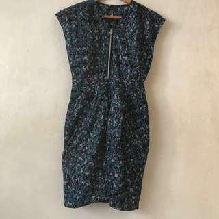 Space printed dress