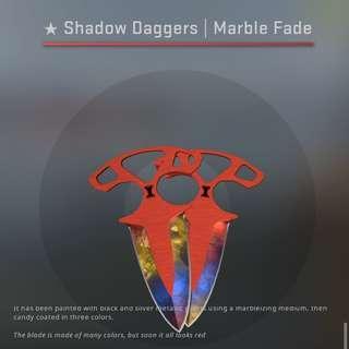SHADOW DAGGERS MARBLE FADE FN FACTORY NEW CSGO SKIN KNIFE SKINS GLOVE GLOVES KEY KEYS