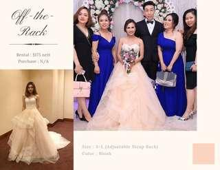 Blush Wedding Ball Gown for Rent