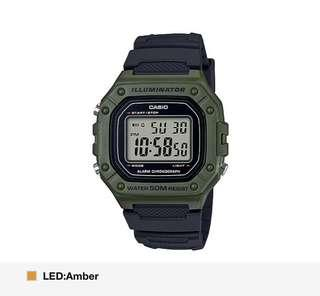 Green color w black strap casio watch! BNIB!! Instocks!!