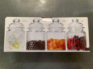 Mini Glass Canisters
