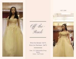 Lace Wedding Gown for Rent