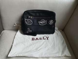 BALLY TANEY LEATHER CLUTCH