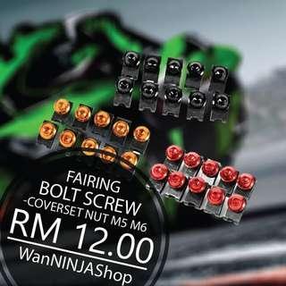 Fairing coverset nut M5 M6 bolt screw ninja 250 ninja 300 alloy
