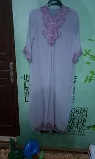 Gamis purple gray