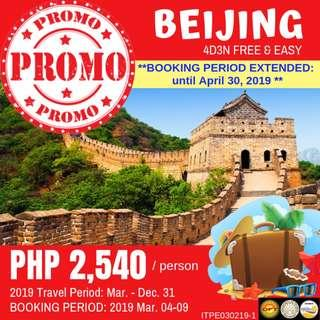 Promo: 4D3N Beijing Free and Easy