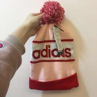 🚚 adidas 愛迪達毛帽 粉色 全新正品 新品 帽子